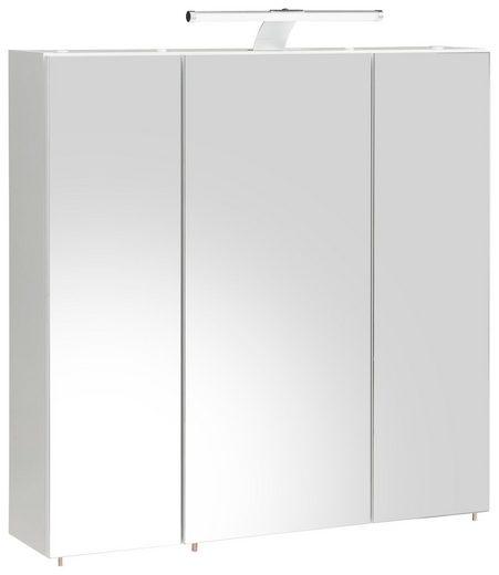 Schildmeyer Spiegelschrank »Roma« mit LED-Beleuchtung und 6 Glaseinlegeböden