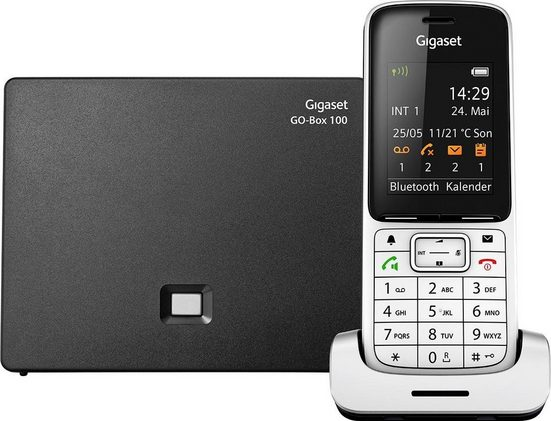 Gigaset »SL450 A GO« Schnurloses DECT-Telefon (Mobilteile: 1, LAN (Ethernet), Bluetooth, Anrufbeantworter, Weckfunktion, Freisprechen)
