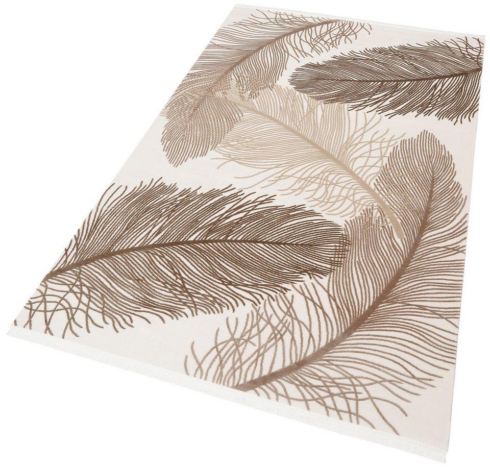 Teppich, Angora Hali, »EVEREST 3302«, handgearbeitet in beige