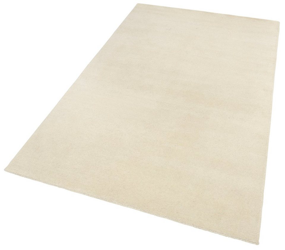 Teppich, Theko Harmony, »Nakarta 1«, handgeknüpft, Wolle in weiß