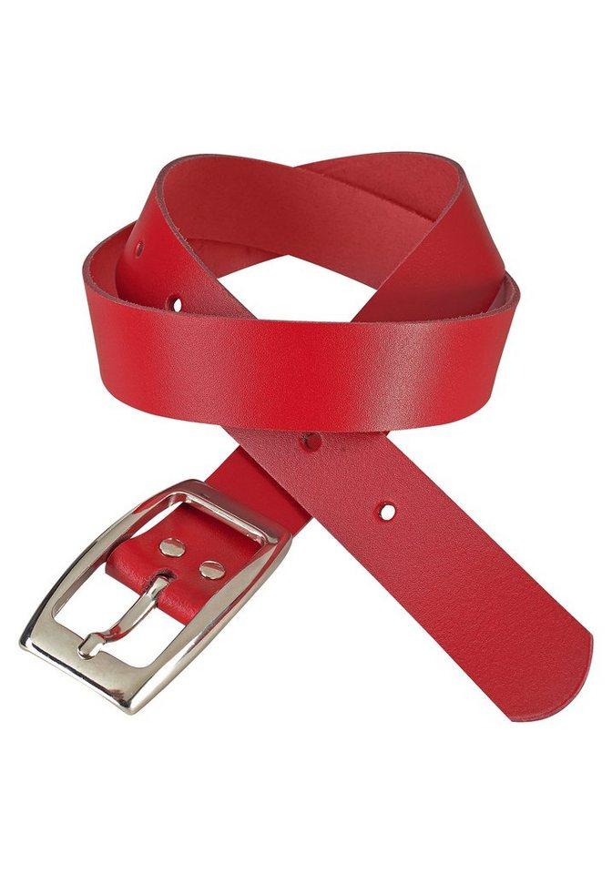 fd046f1e4eed J.Jayz Ledergürtel mit glänzender Schließe, auch in Plus Size Größen ...