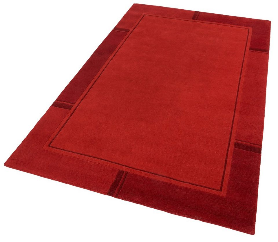 Teppich »Ganges«, Theko, rechteckig, Höhe 14 mm in rot