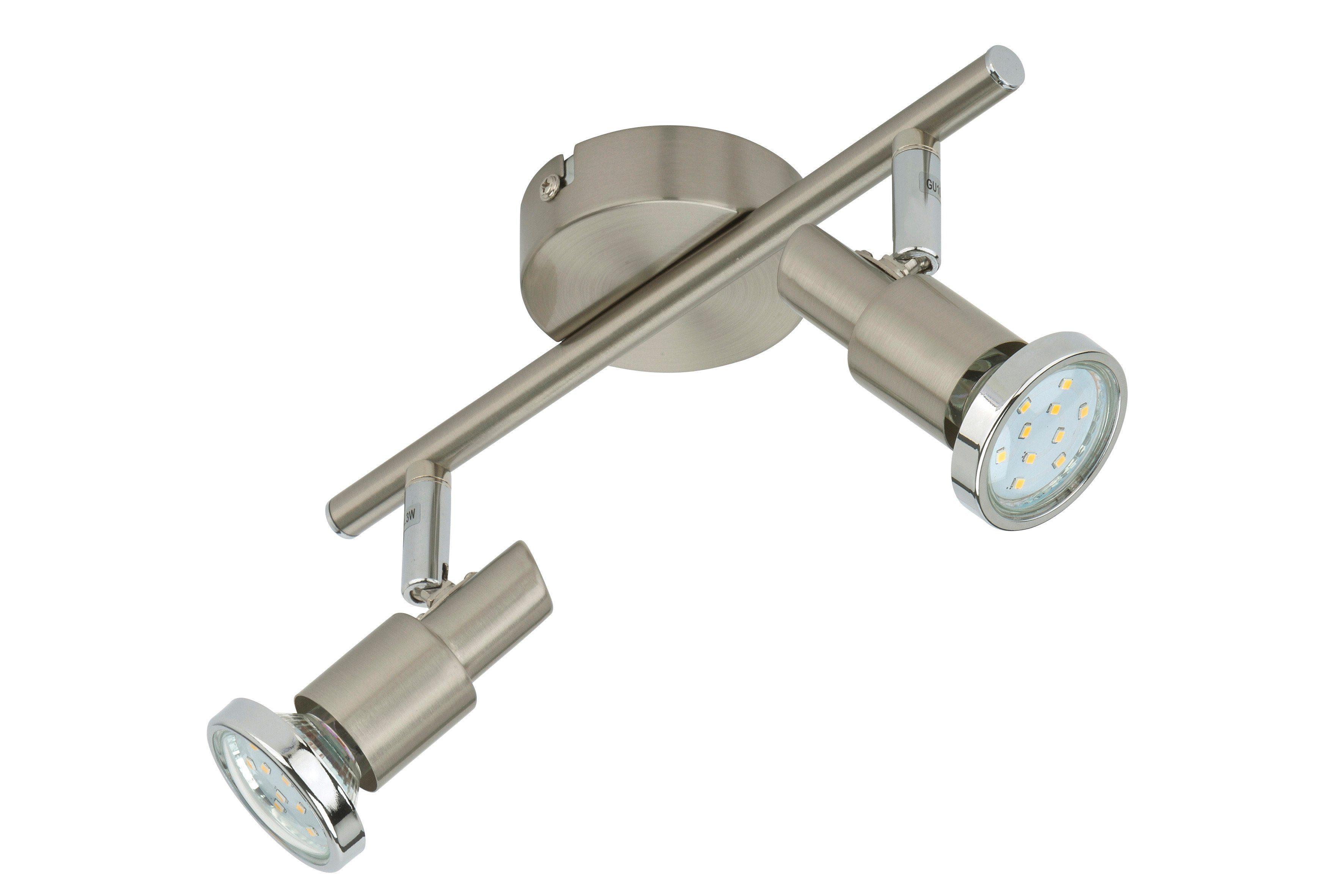 BRILONER LED-Spotleuchte »Cool«, 2-flammig, matt-nickel, 3W
