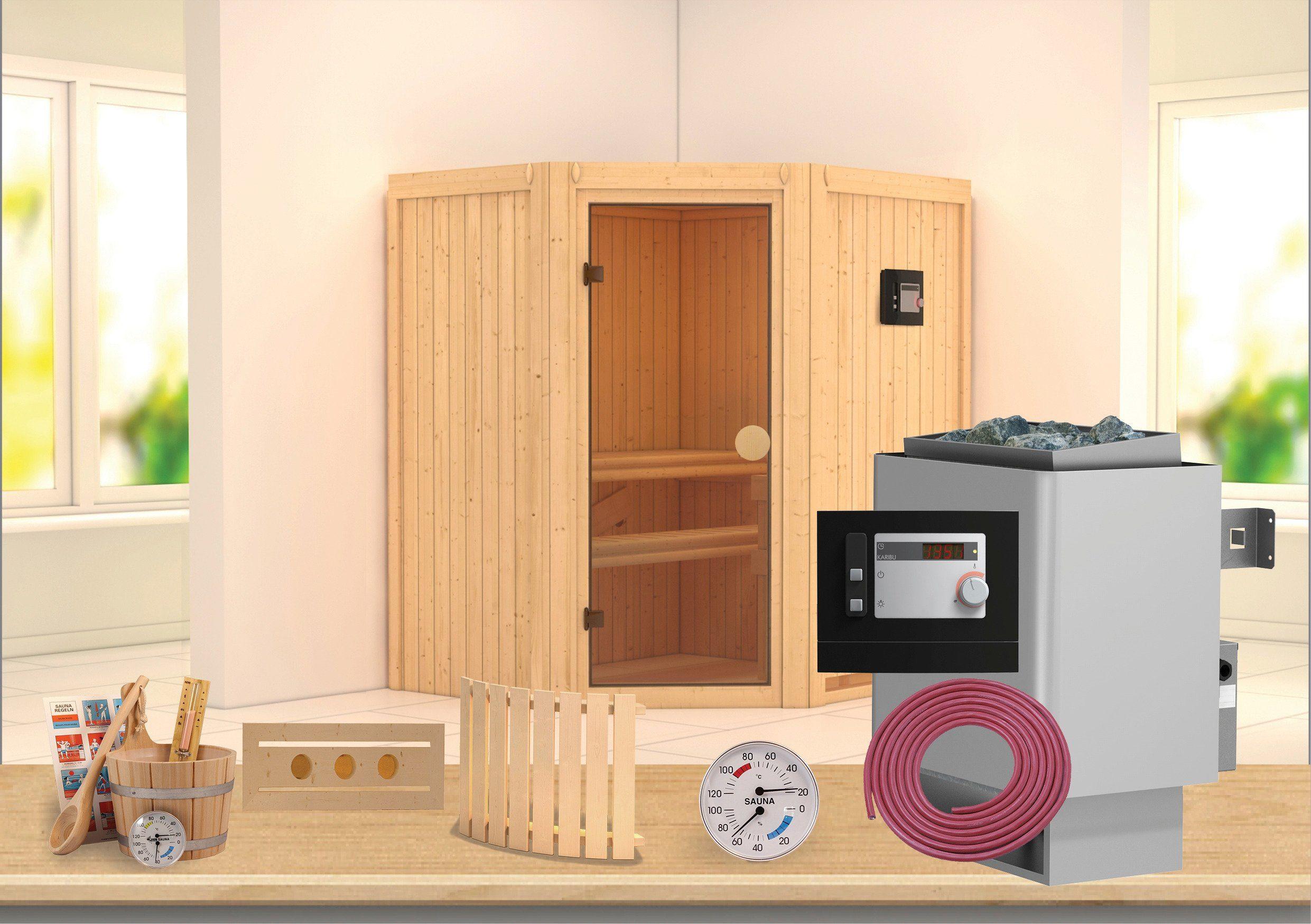Konifera Sauna »Carolin«, 175/152/198 cm, 7,5-KW-Ofen mit ext. Steuerung