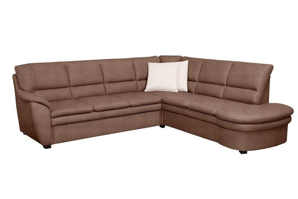Sit & More Polsterecke, wahlweise mit Bettfunktion in braun