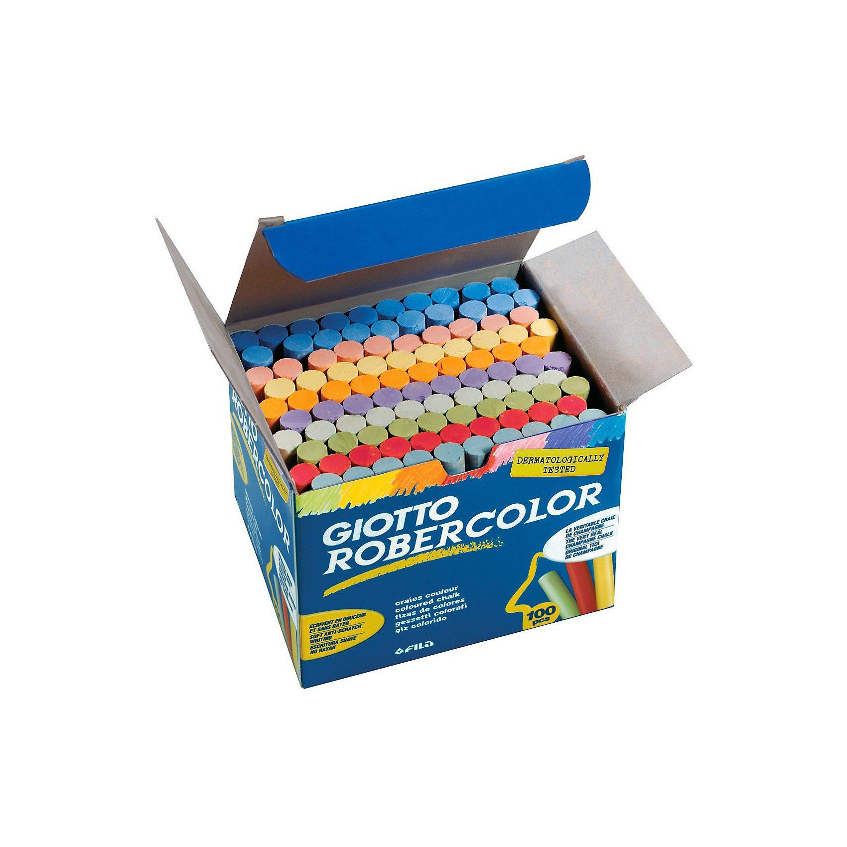 LYRA GIOTTO Robercolor Tafelkreide farbig, 100 Stück