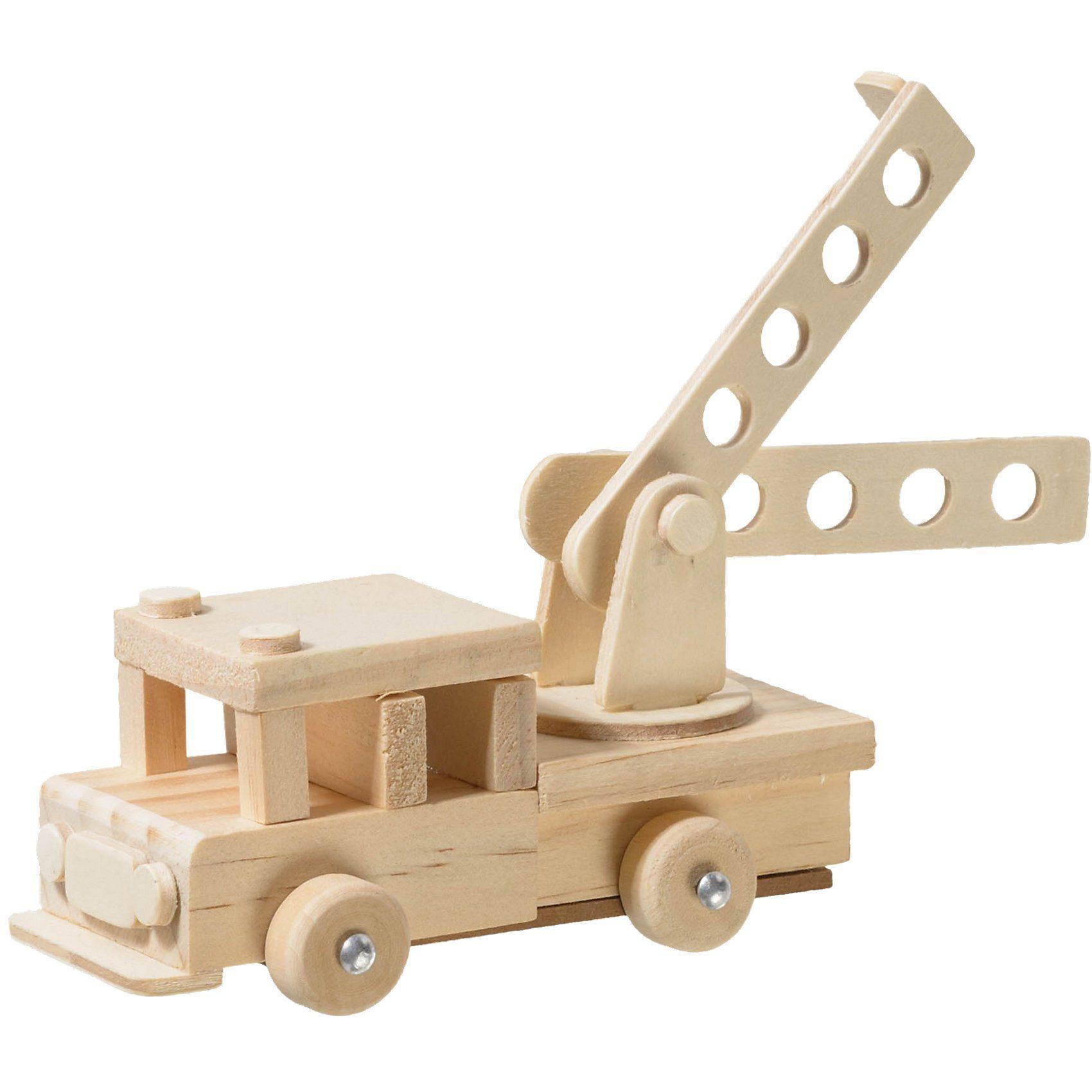 prohobb Modellbausatz Holz Feuerwehrauto