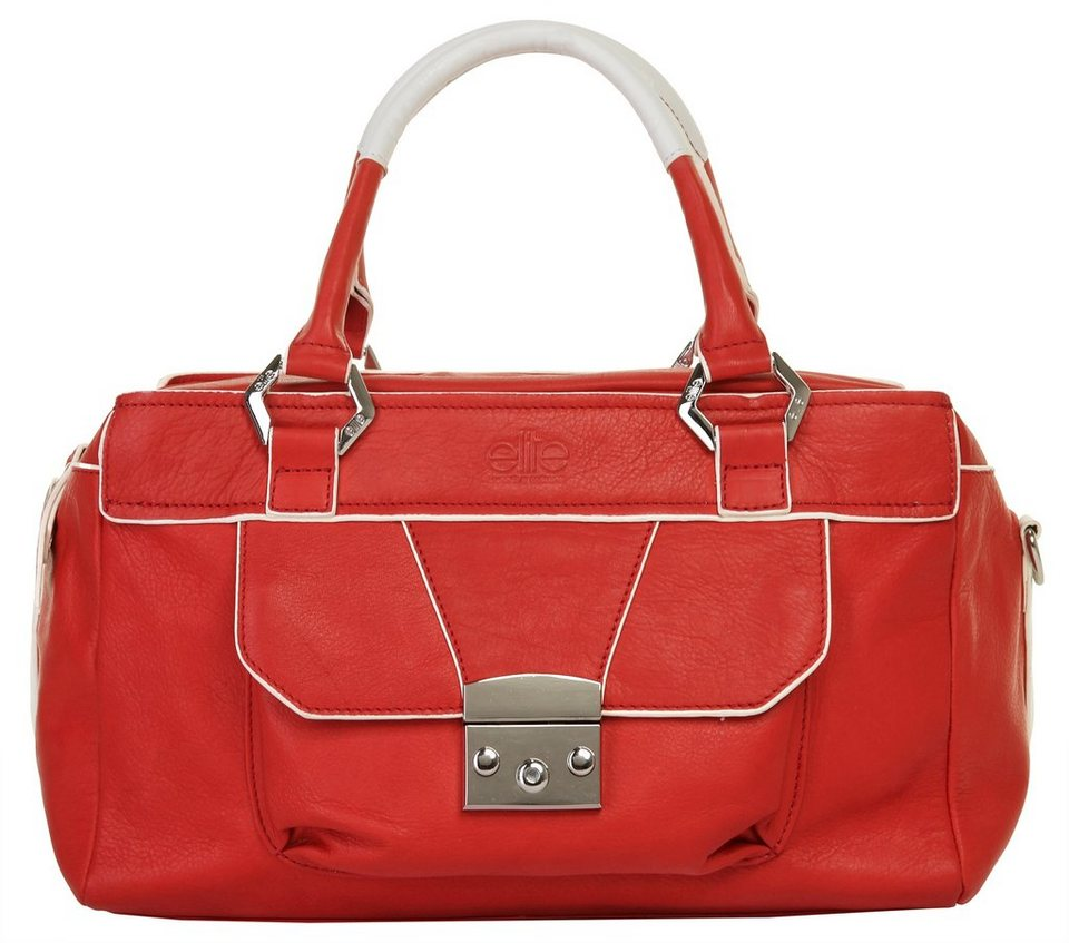 ELITE MODEN Leder Damen Handtasche in rot