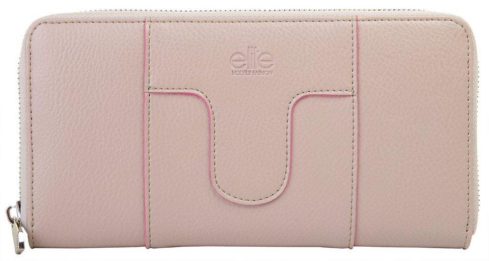 ELITE MODEN Damen Geldbörse in alt-rosa