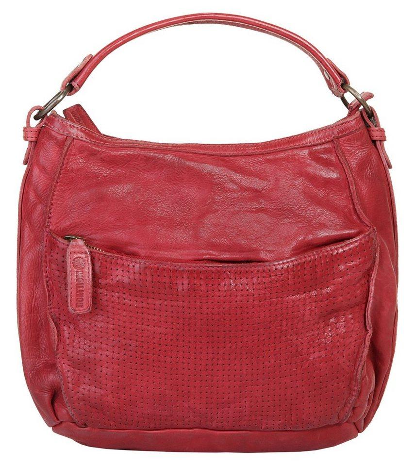 WouWou Leder Damen Handtasche in rot