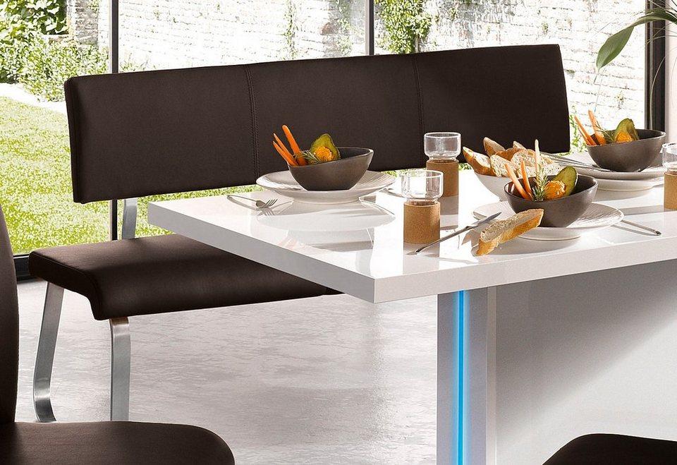 Sitzbank, Breite 155 oder 175 cm in braun