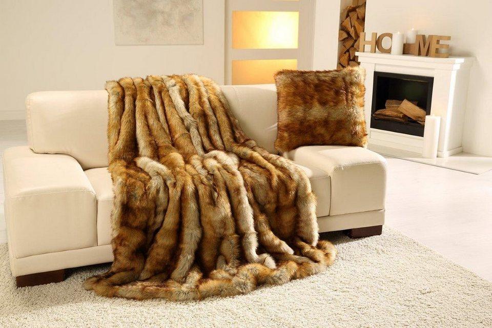 Wohndecke Fuchs Felloptik Gozze Besonders Warmend Online Kaufen