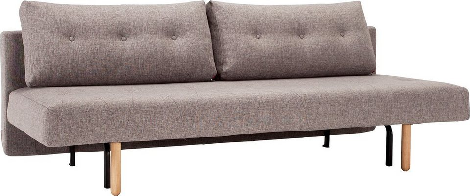 INNOVATION™ Klappsofa »Rhomb« im Scandinavian Design, inklusive 2 Rückenkissen in grey