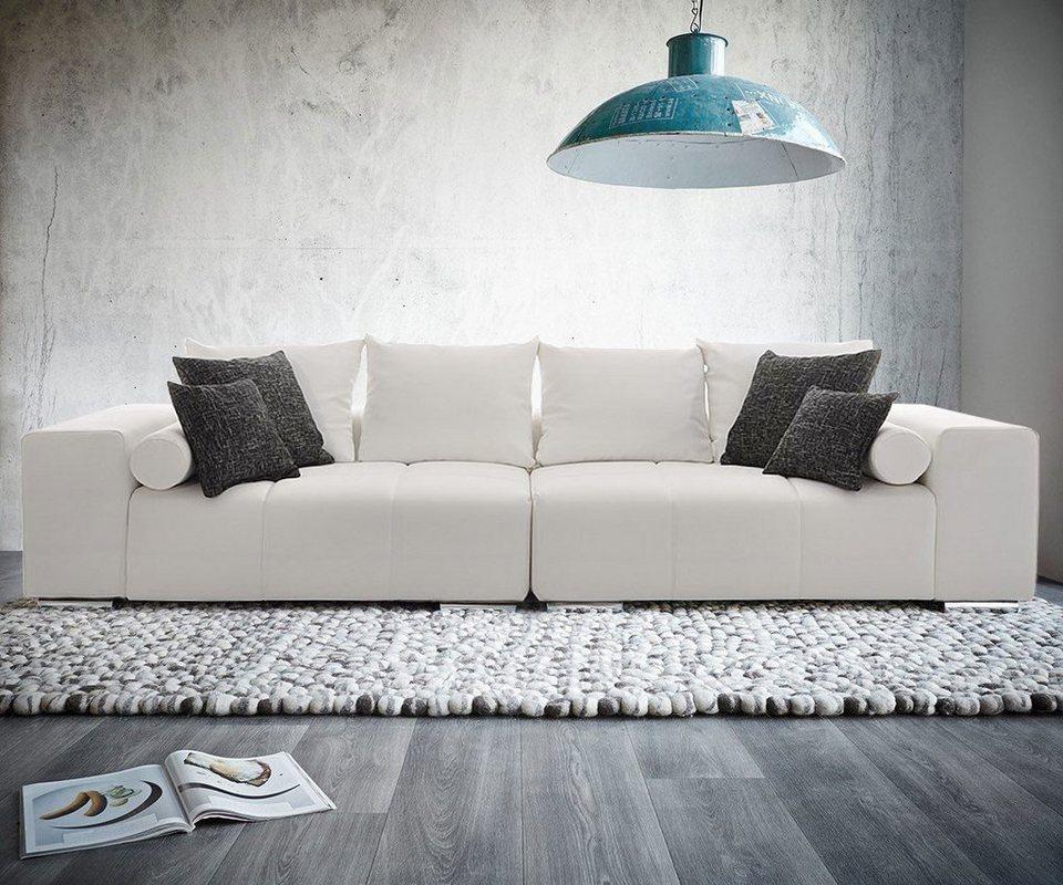 delife bigsofa marbeya 290x120 cm weiss inklusive kissen online kaufen otto. Black Bedroom Furniture Sets. Home Design Ideas