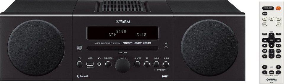 Yamaha MCR-B043D Kompaktanlage, Bluetooth, Digitalradio (DAB+), 1x USB in schwarz