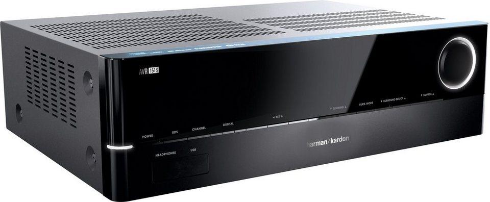 Harman/Kardon AVR 151S 5.1 AV-Receiver (3D, Spotify) in schwarz