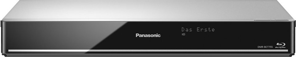 Panasonic DMR-BCT750/755 Blu-ray-Recorder, 3D-fähig, 4K (Ultra-HD), 500 GB, WLAN in silberfarben