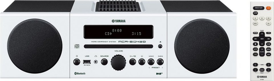 Yamaha MCR-B043D Kompaktanlage, Bluetooth, Digitalradio (DAB+), 1x USB in weiß