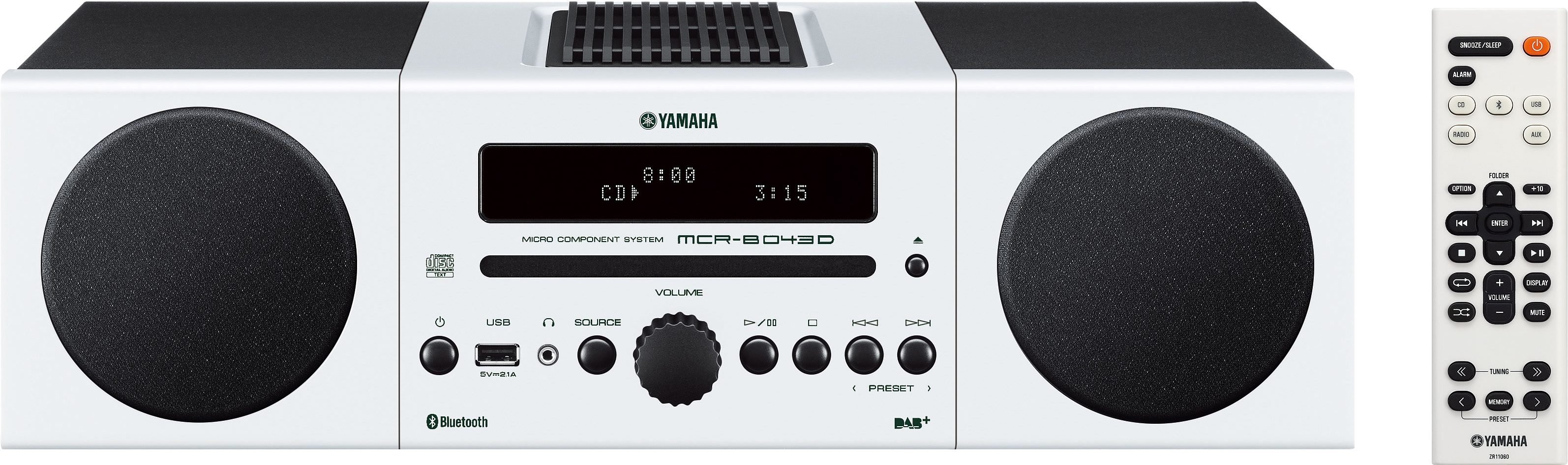 Yamaha MCR-B043D Kompaktanlage, Bluetooth, Digitalradio (DAB+), 1x USB