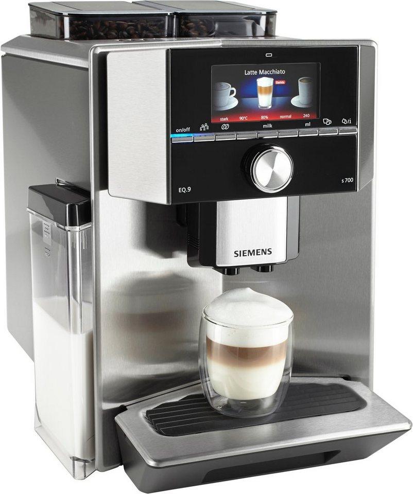 siemens kaffeevollautomat eq 9 s700 ti907501de integrierter milchtank 19 bar online kaufen otto. Black Bedroom Furniture Sets. Home Design Ideas