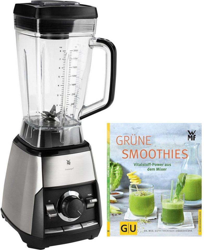 WMF Green Smoothie Standmixer »KULT pro Power», 1600 Watt, Gratis dazu: Rezeptbuch Grüne Smoothie in Cromargan®
