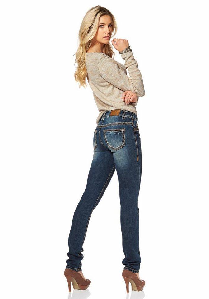 arizona destroyed jeans mit kontrastn hten kaufen otto. Black Bedroom Furniture Sets. Home Design Ideas