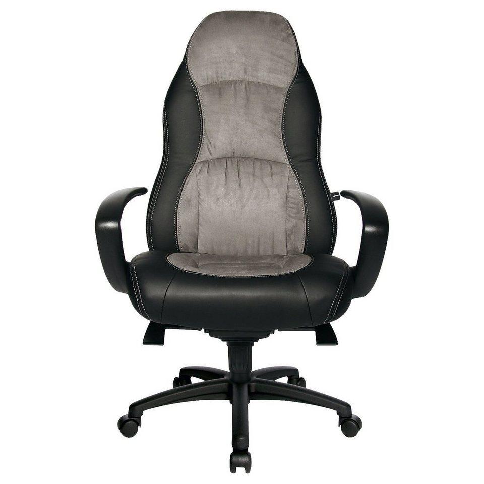 Topstar Drehstuhl Speed Chair, schwarz-grau in schwarz