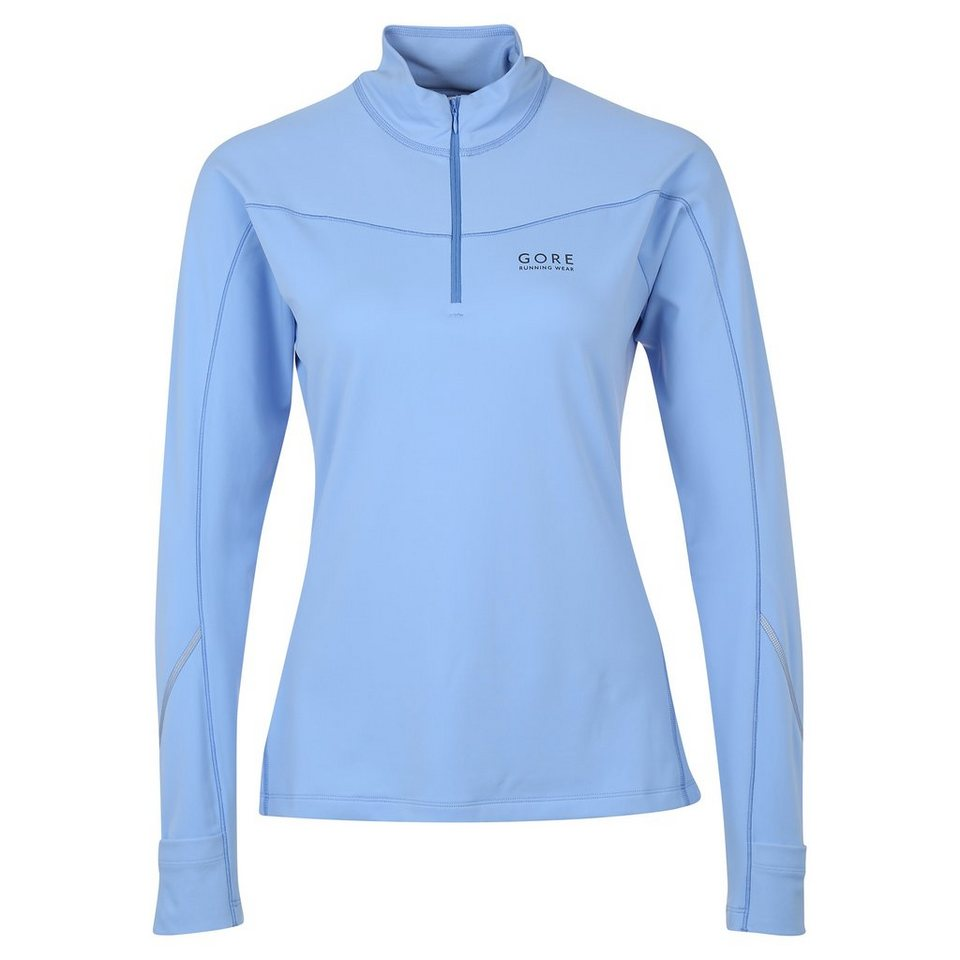GORE Essential Thermo Laufshirt Damen in blau