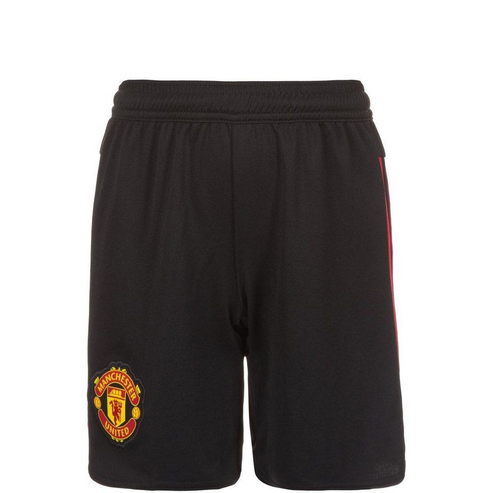 adidas Performance Manchester United Short Away 2015/2016 Kinder in schwarz / rot
