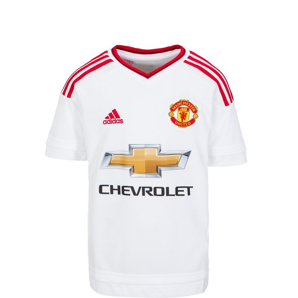 adidas Performance Manchester United Trikot Away 2015/2016 Kinder in weiß / rot