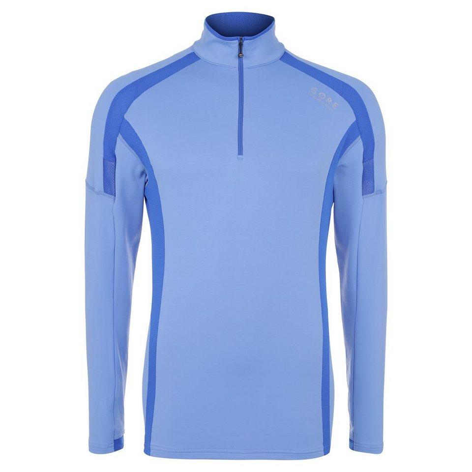 GORE Air Zip Laufshirt Herren in blau