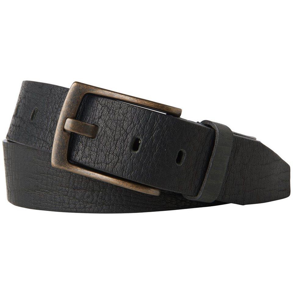 TOM TAILOR DENIM Gürtel »Leder-Gürtel mit Struktur« in black
