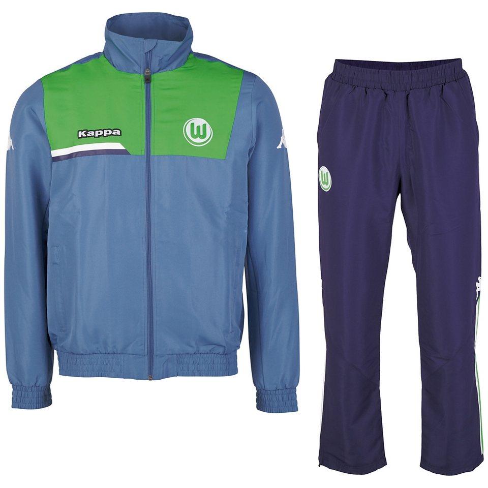 KAPPA Trainingsanzug »VfL Wolfsburg Trainingsanzug 15-16« in jeans