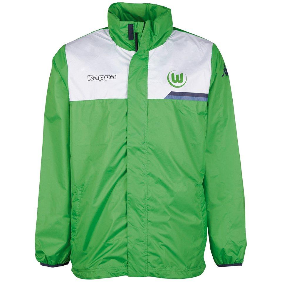 KAPPA Regenjacke »VfL Wolfsburg Regenjacke 15-16« in classic green