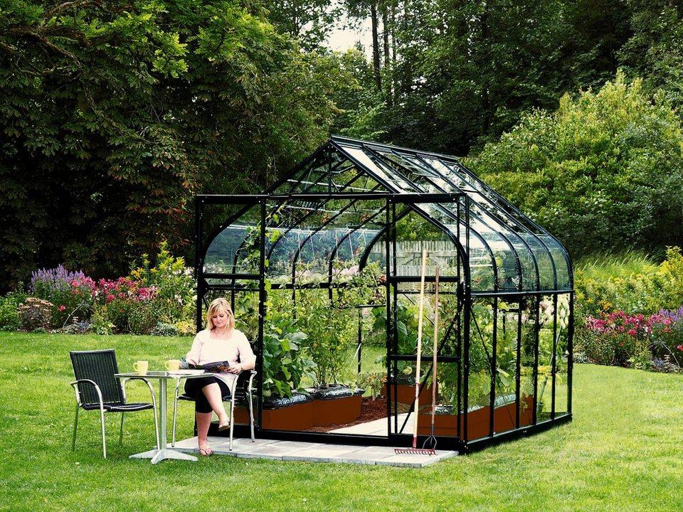 Komplett-Set: Gewächshaus »Diana«, BxT: 254x317 cm, schwarz in schwarz
