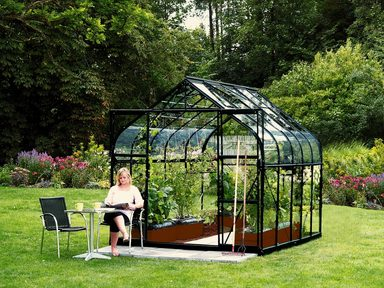 vitavia komplett set gew chshaus diana 8300 254x317x255 cm schwarz 3 mm mit 3 tlg. Black Bedroom Furniture Sets. Home Design Ideas
