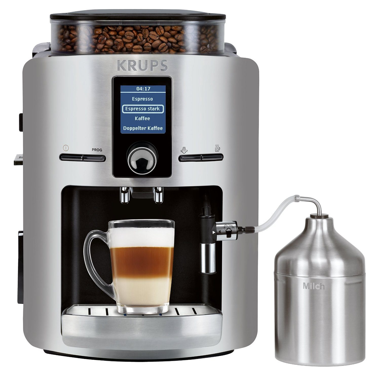 Krups Kaffeevollautomat EA826E, 1,8l Tank, Kegelmahlwerk, inkl. Edelstahl-Milchbehälter