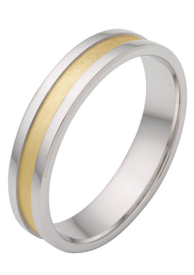 firetti Trauring in Silber 925/tw. goldfb. vergoldet