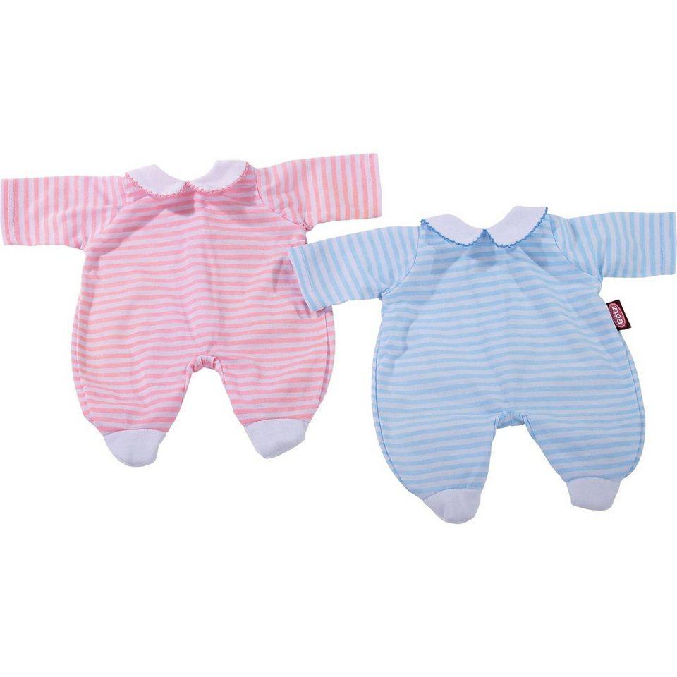 Götz Puppenkleidung Anzug, pink stripes 42-46 cm