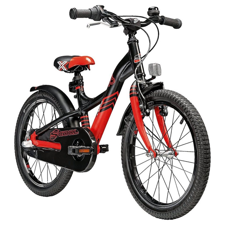 "S'cool Fahrrad XXlite 18"" 3-S in schwarz"