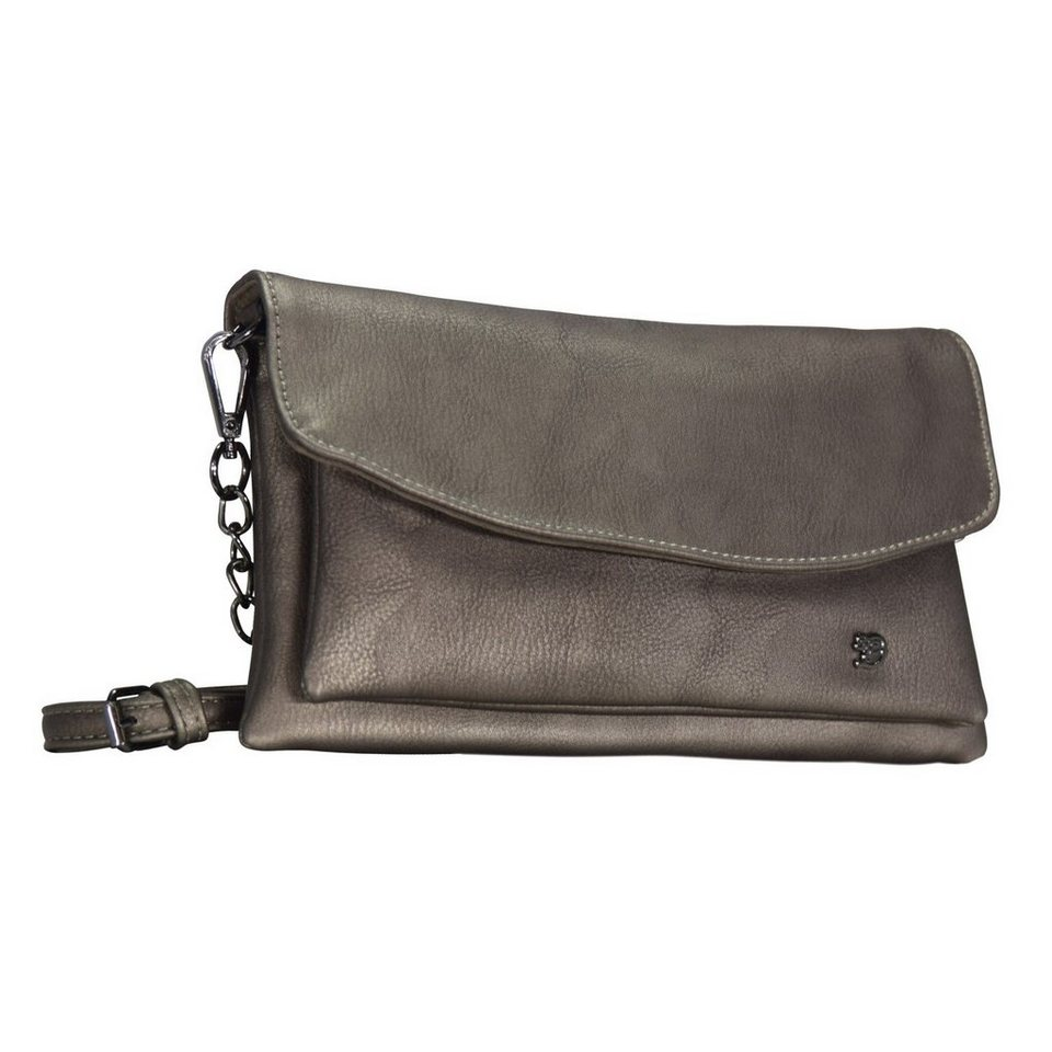 Tom Tailor Denim Nicole Clutch Tasche 26 cm in altsilber