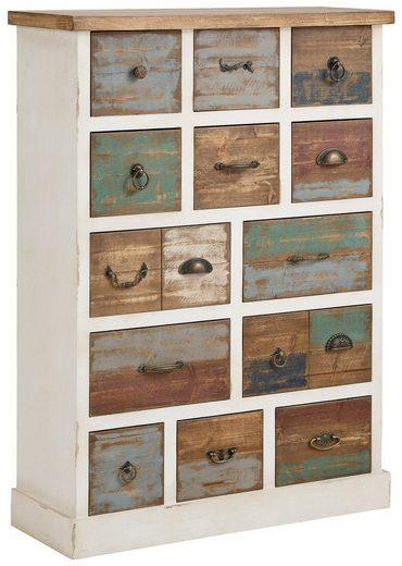 home affaire kommode breite 80 cm mit 13 unterschiedlichen schubladen online kaufen otto. Black Bedroom Furniture Sets. Home Design Ideas