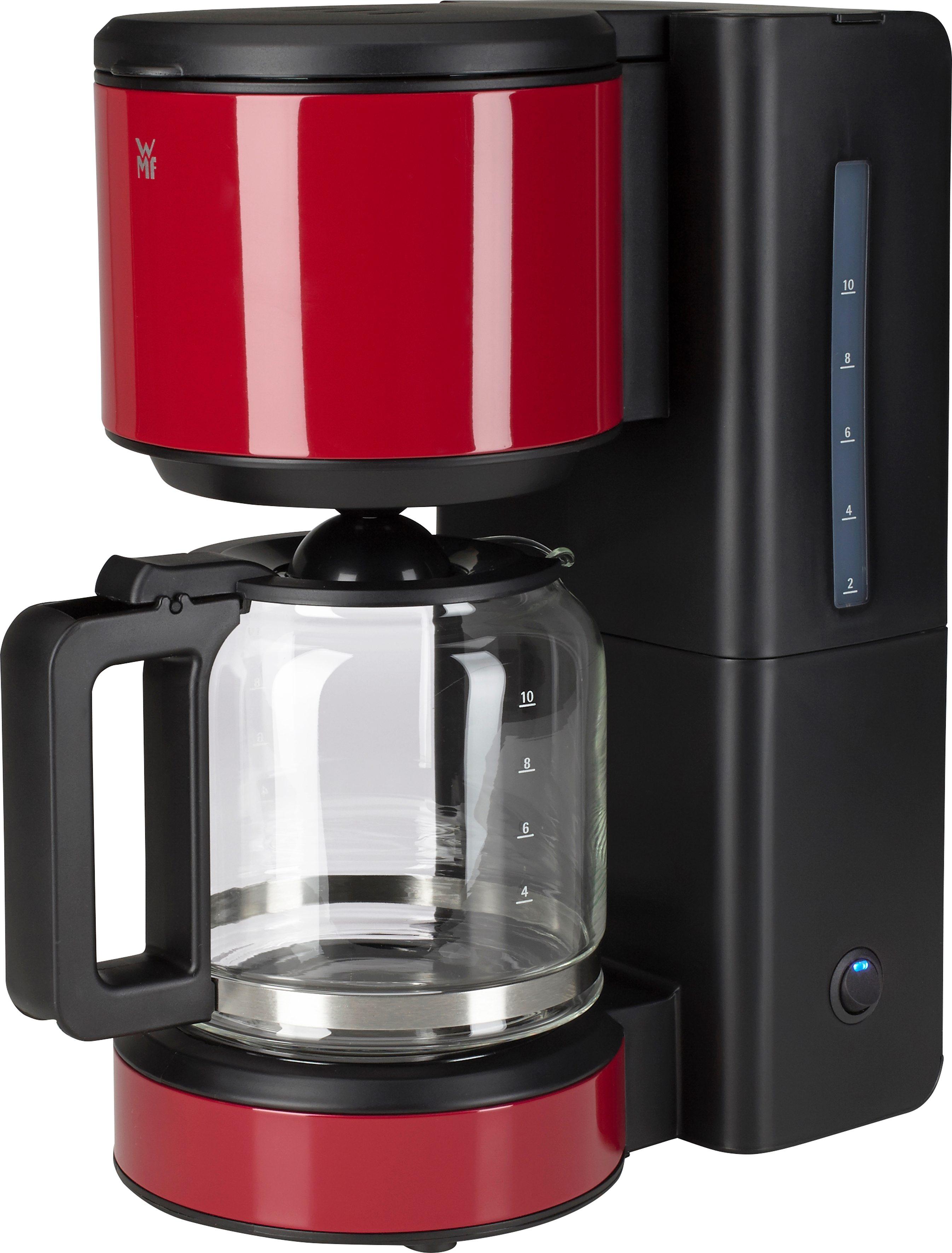 WMF Kaffeemaschine STELIO Aroma, 1000 Watt, für 10 Tassen, vulcano red