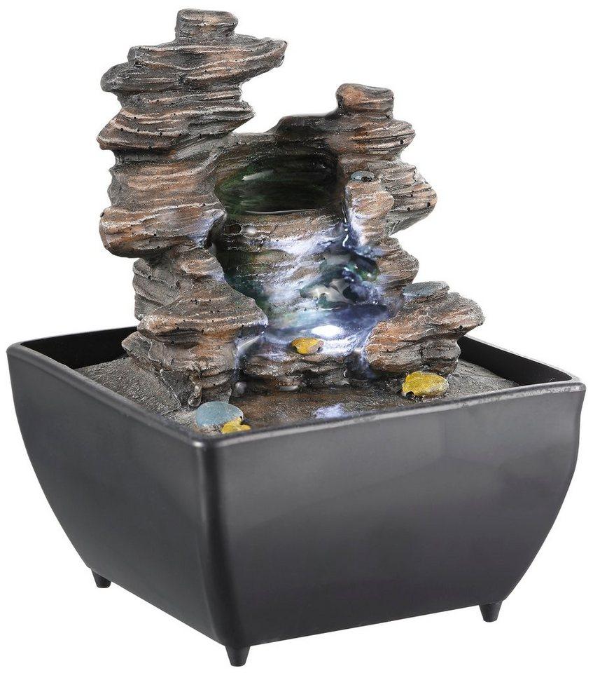Zimmerbrunnen »L'Eau«, H 17,5 cm in grau