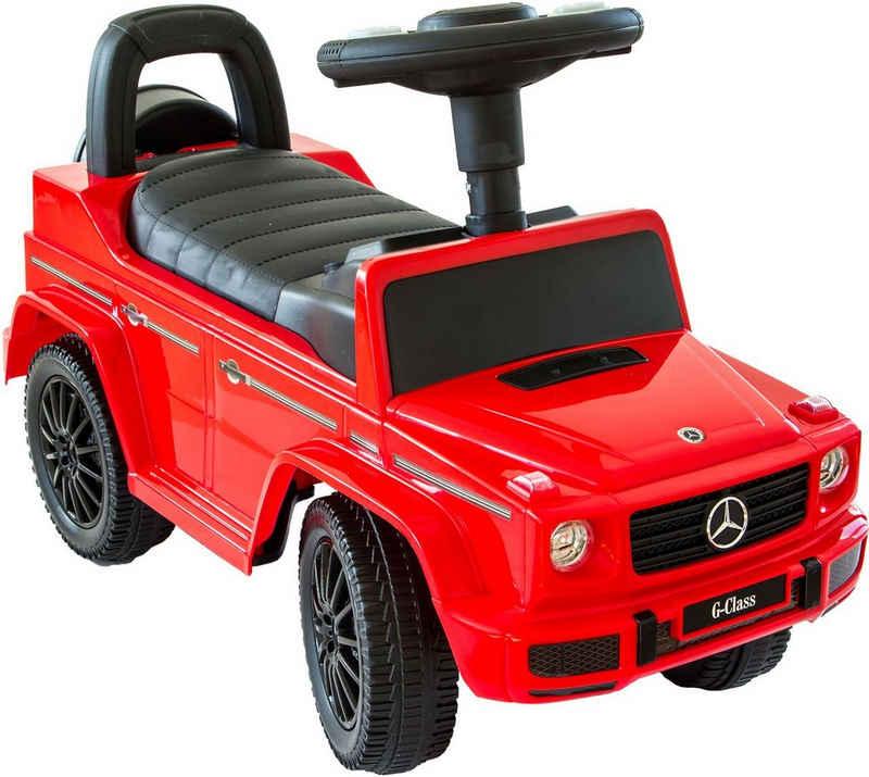 NATIV Spielzeug Rutscher »Babyrutscher Mercedes G350d«, leiselaufende Kunststoffräder, mit Soundlenkrad