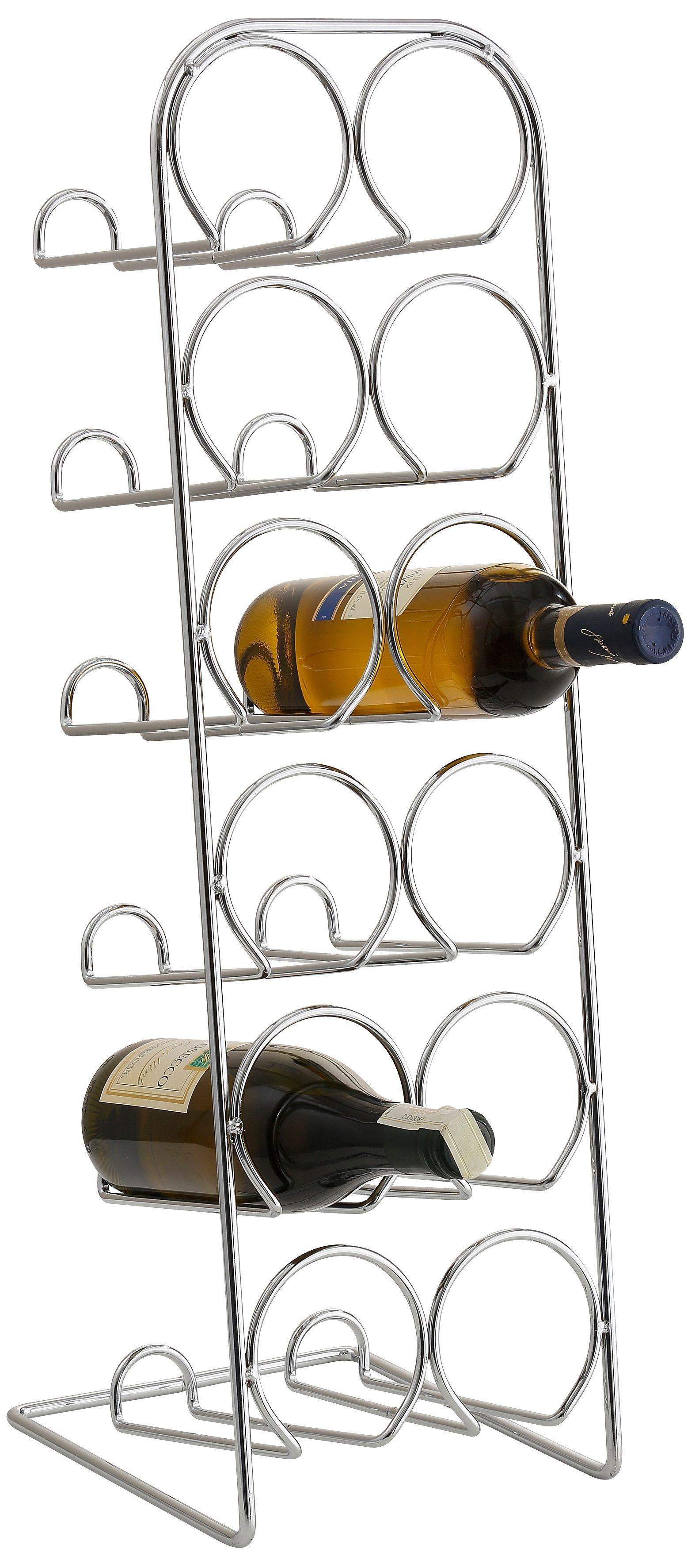 Home affaire Flaschenhalter aus verchromtem Metall, für 12 Flaschen