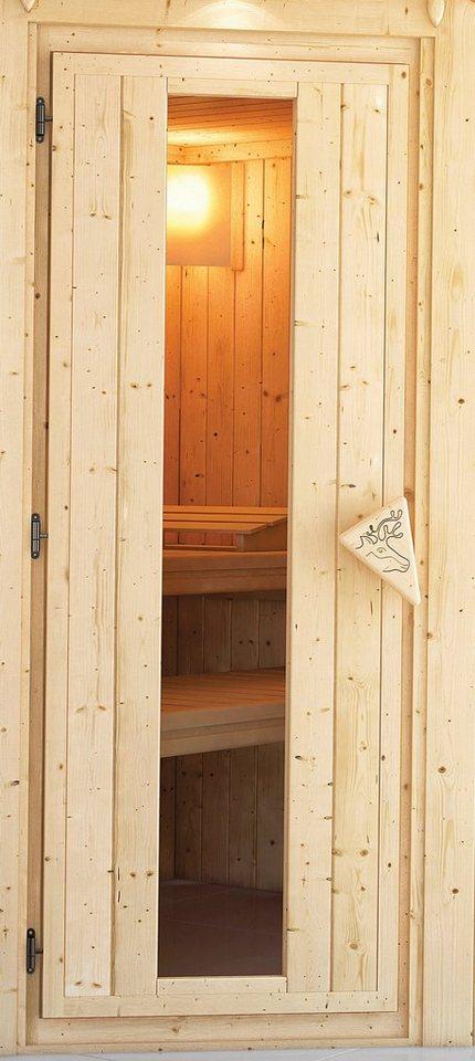 Karibu Saunatür , für 38/40 mm Sauna, BxH: 64x173 cm in natur