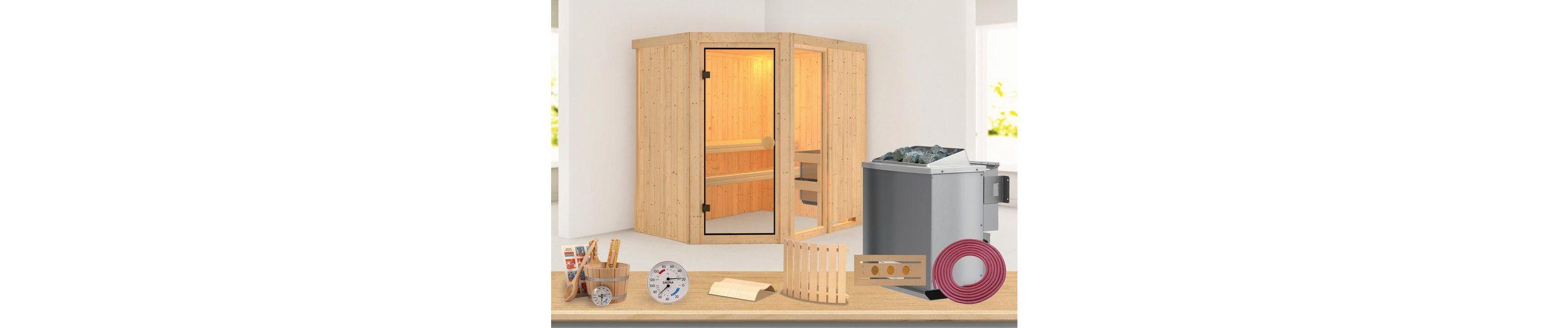 Sauna »Sofia 1«, 196/151/198 cm, 68 mm, 9-KW-Ofen mit int. Steuerung