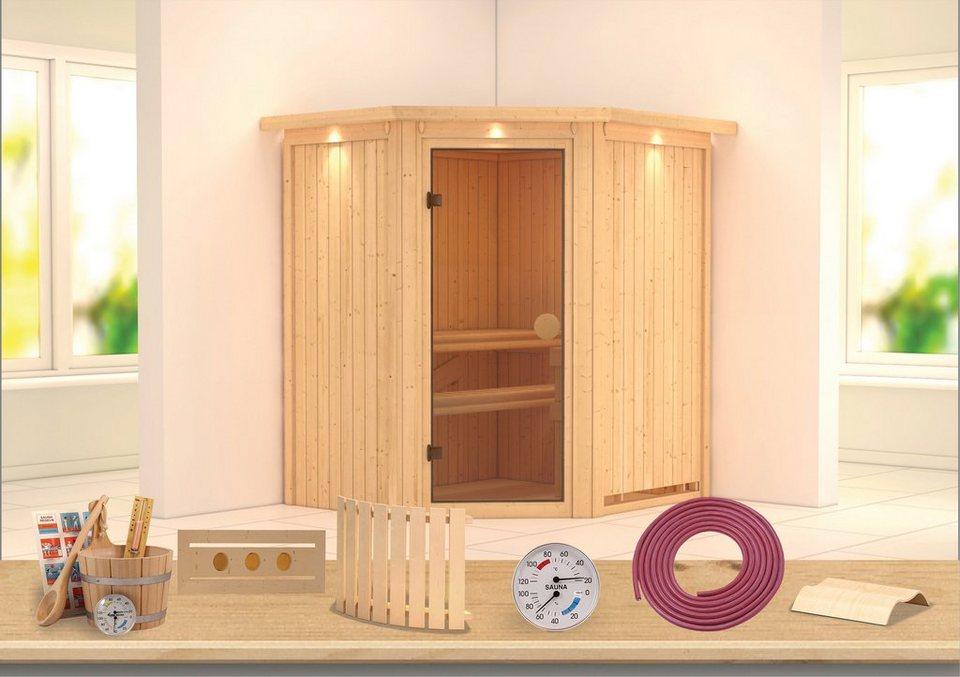 Sauna »Carolin«, 175/152/198 cm, ohne Ofen in natur