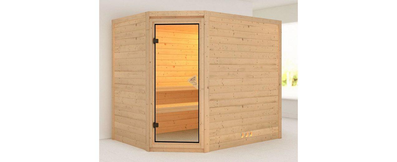 Massivholzsauna »Tanami«, 236/184/208 cm, ohne Ofen